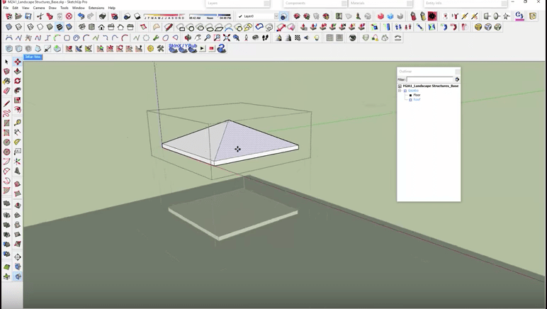 SketchUp Modified Roof
