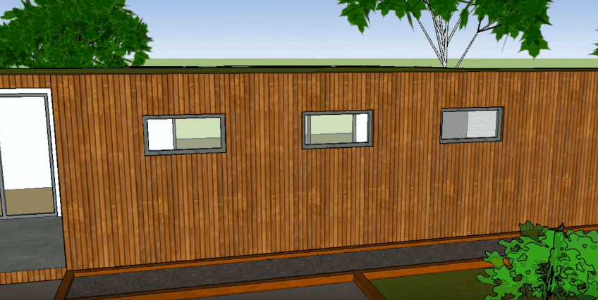 SketchUp Side Exterior View