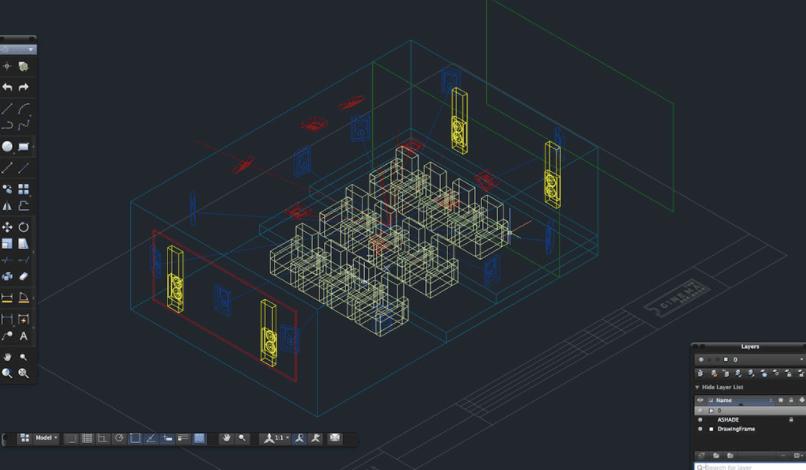 The Cinema Designer CAD Drawing