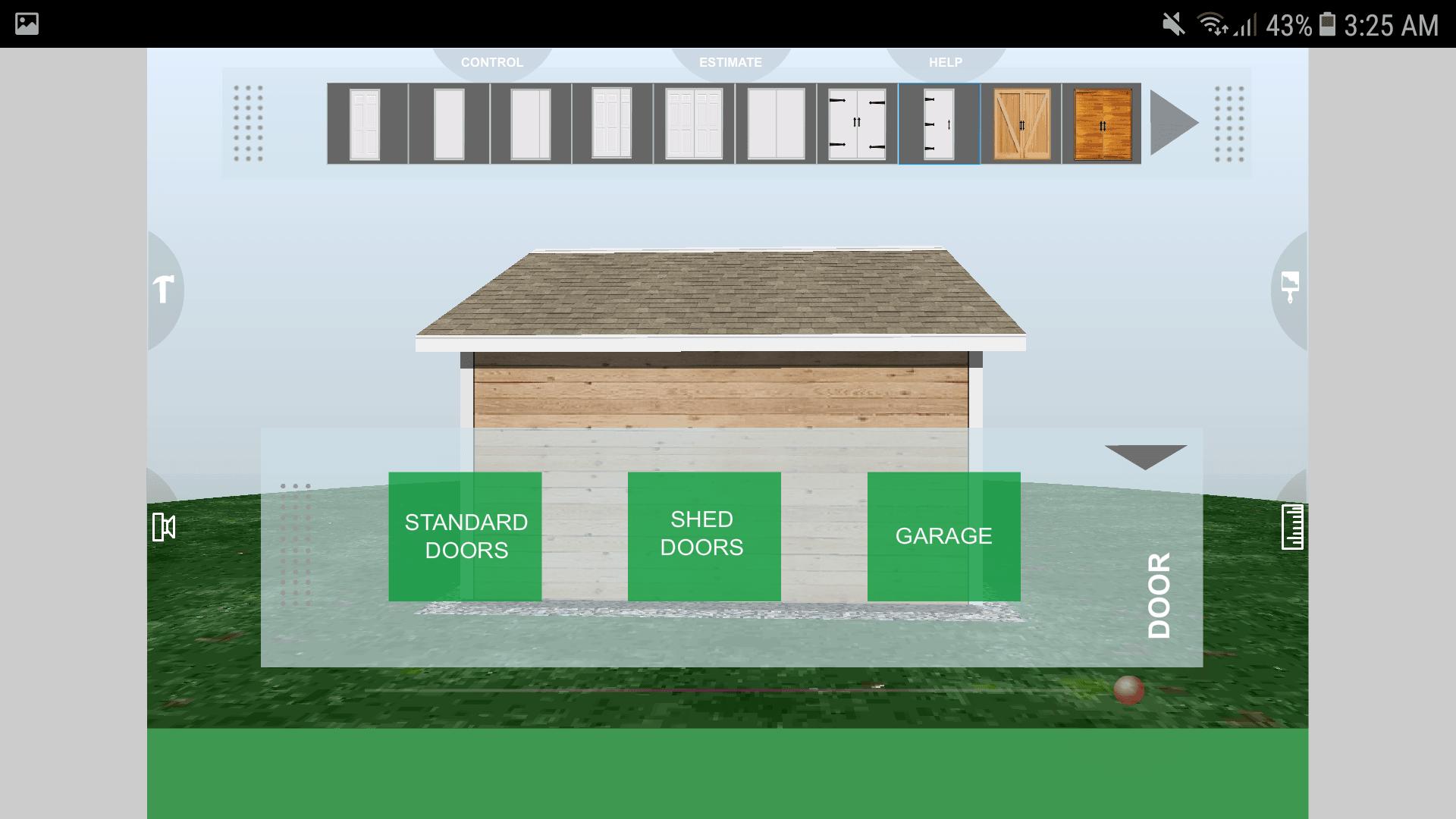 Udesignit 3D Garage Shed Door
