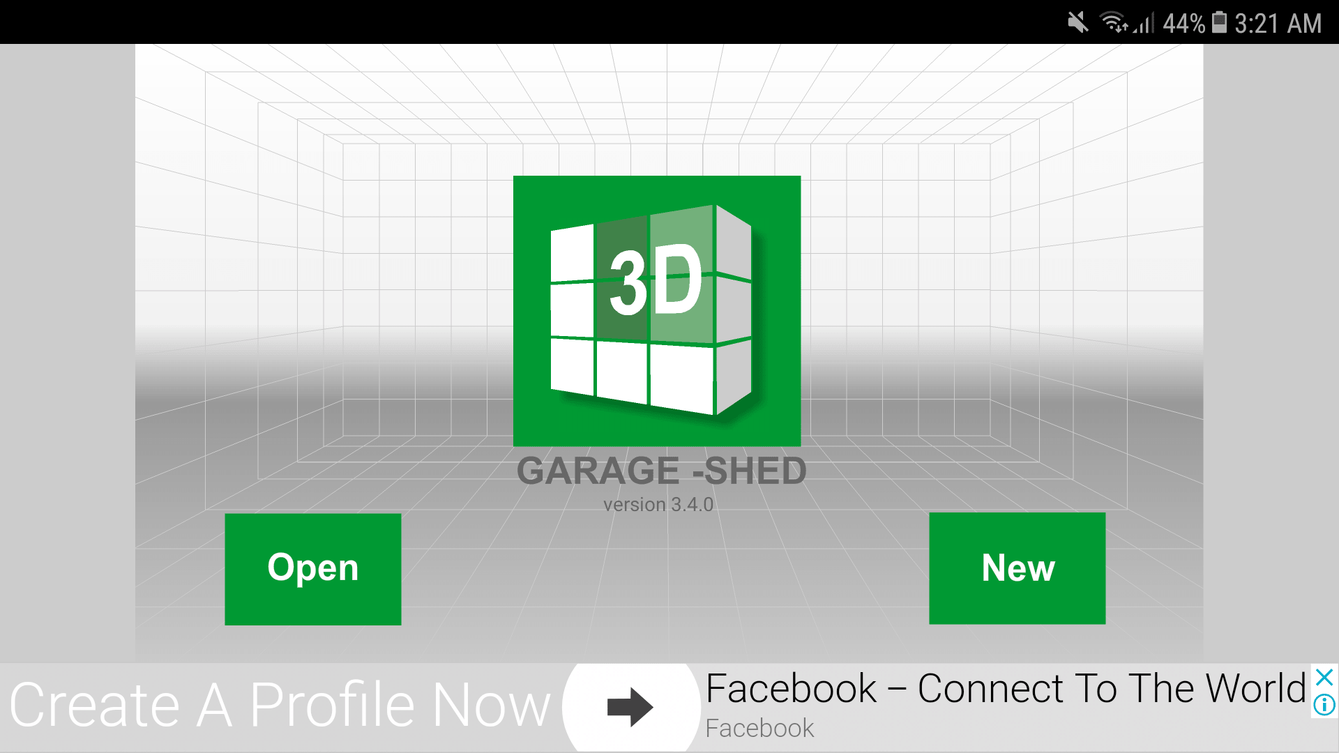 Udesignit 3D Garage Shed Home Screen