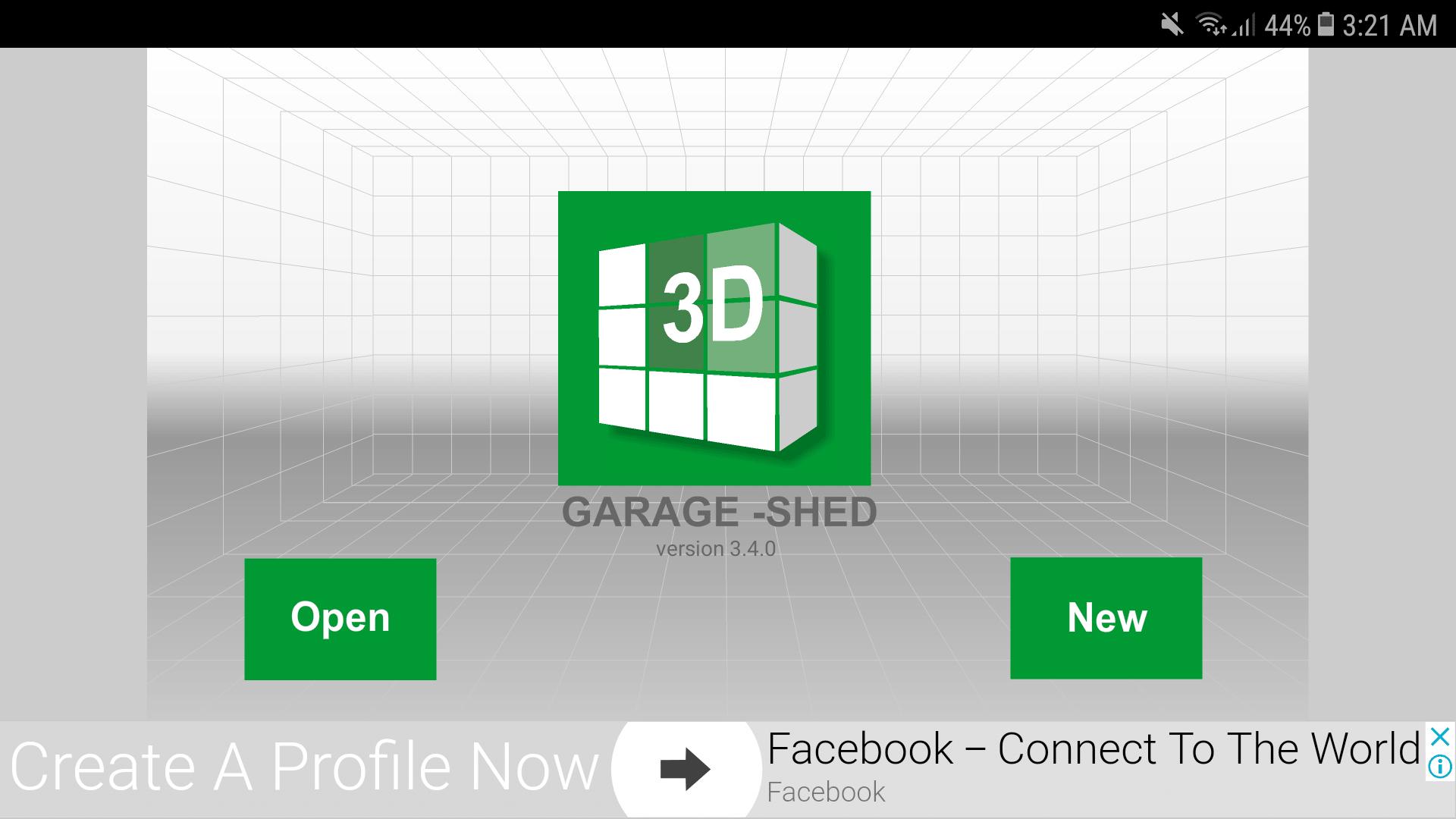 Udesignit 3D Garage Shed Home Screen