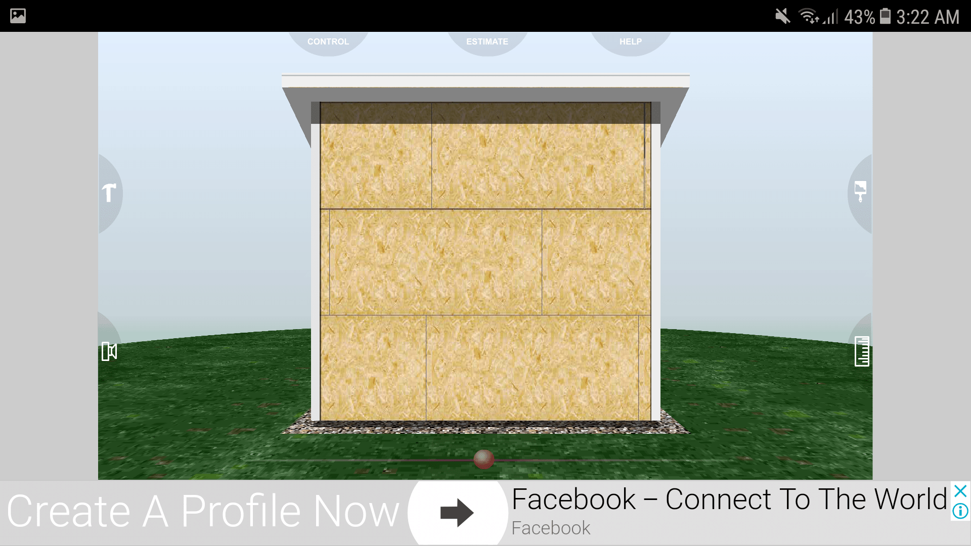 Udesignit 3D Garage Shed User Interface