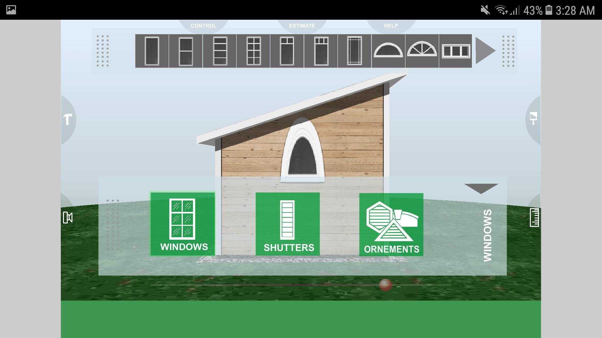 Udesignit 3D Garage Shed Windows