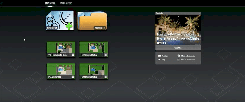 VizTerra Start Screen