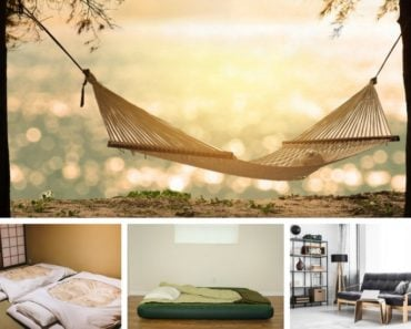 Several mattress alternatives in photo collage
