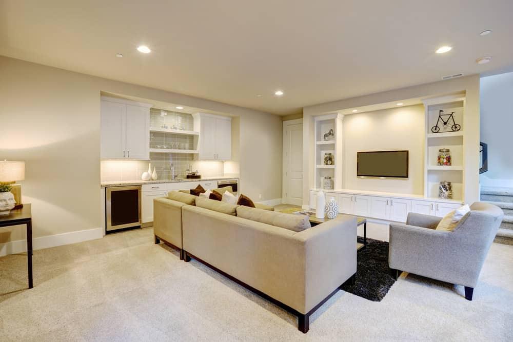 Lighting Basement Washroom Stairs: 35 Diverse Finished Basement Ideas (2019