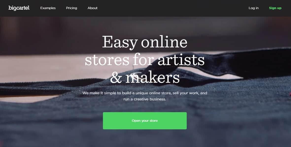 Big Cartel's website.
