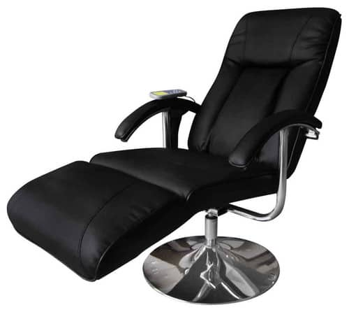 Single, massaging recliner in a contemporary style.