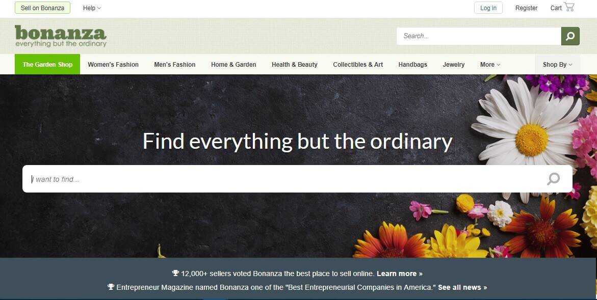 Bonanza's Website.