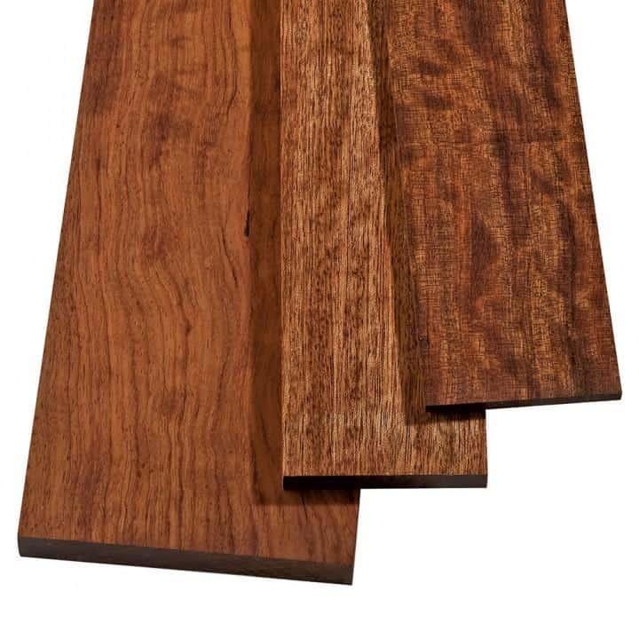 Smooth bubinga wood.
