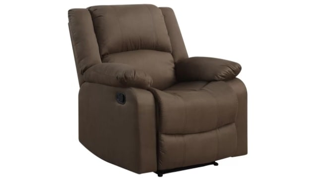 Soft, medium-sized manual recliner in Dark Chocolate.