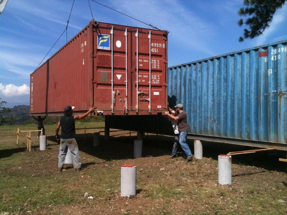 Containers of hope are now being ready for the ultimate make-over. Photo credit: Andres Garcia Lachner
