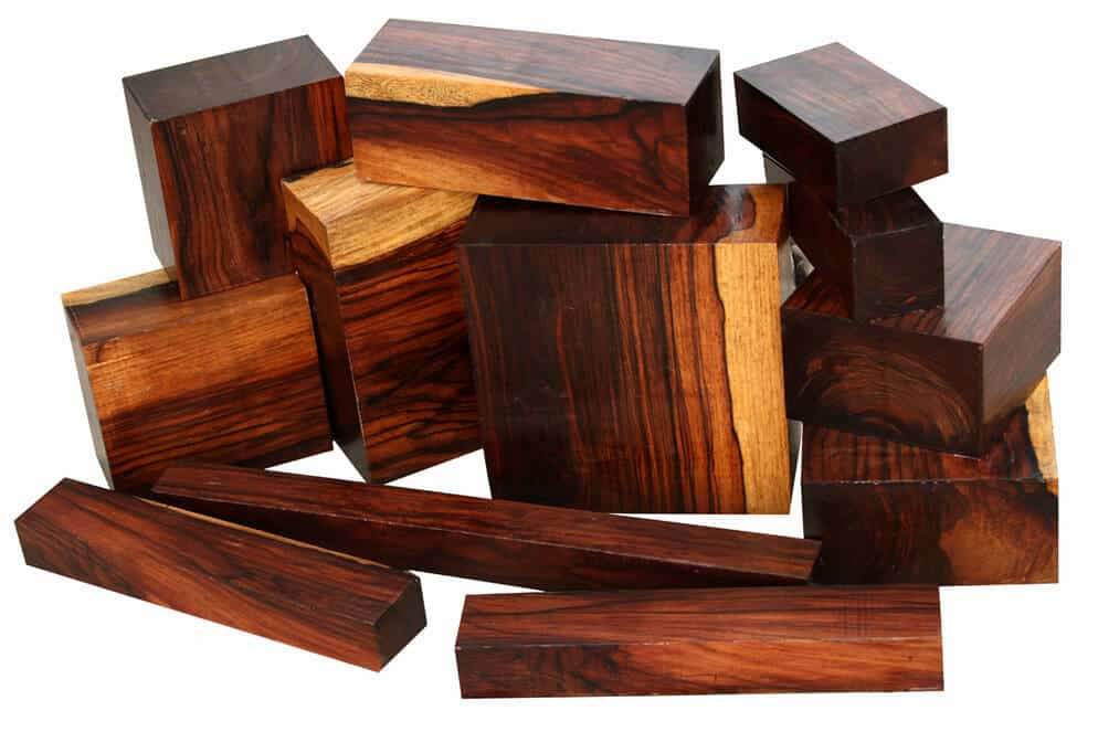 Dalbergia woods of different sizes.