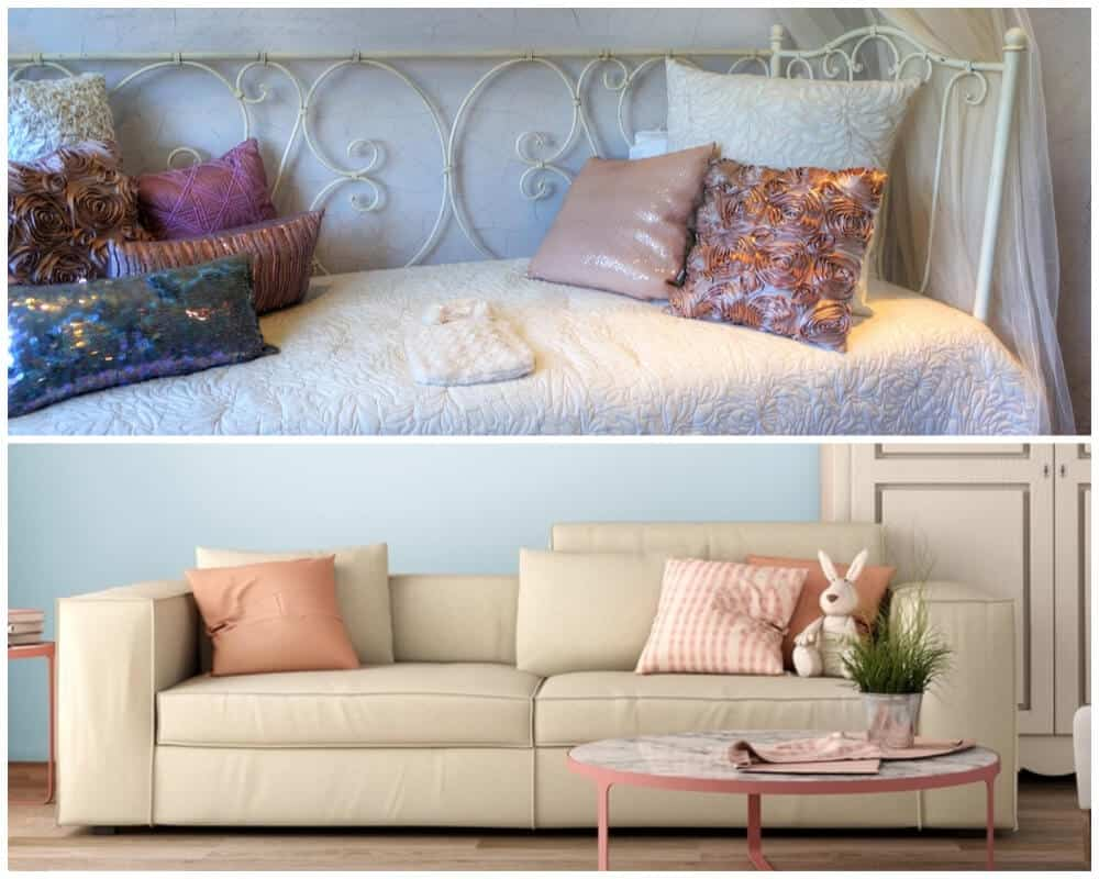 Quick comparison of a day bed and a sofa bed.