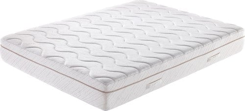 Queen-size, gel mattress with wavy details.