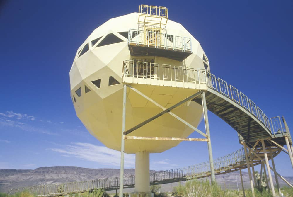 Dome house in the desert on Route 66 in Arizona