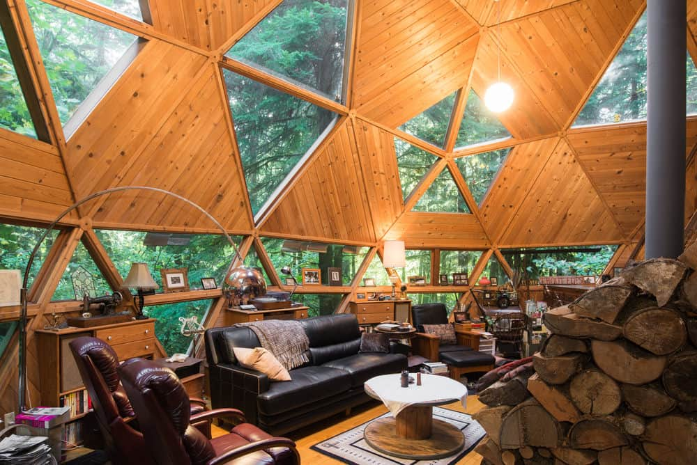 Interior of a dome house