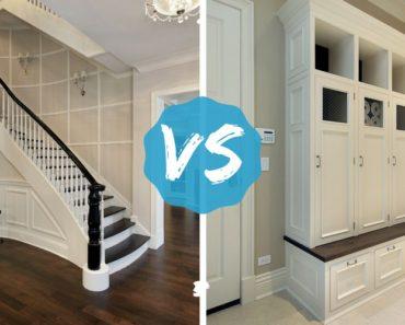 Foyer vs. mudroom photo comparison