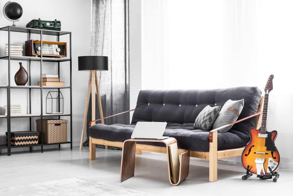 Regular wood futon