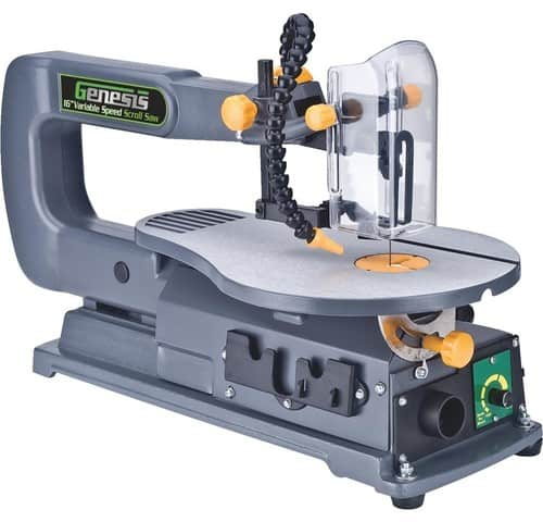 Variable speed, traditional scroll saw.