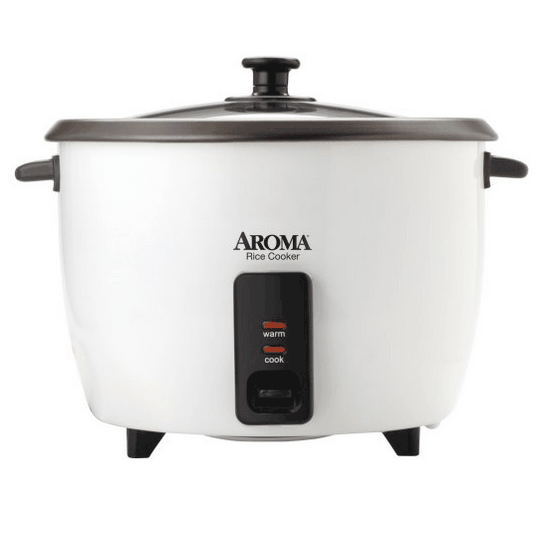 Aroma 32-cup rice cooker with warmer setting.