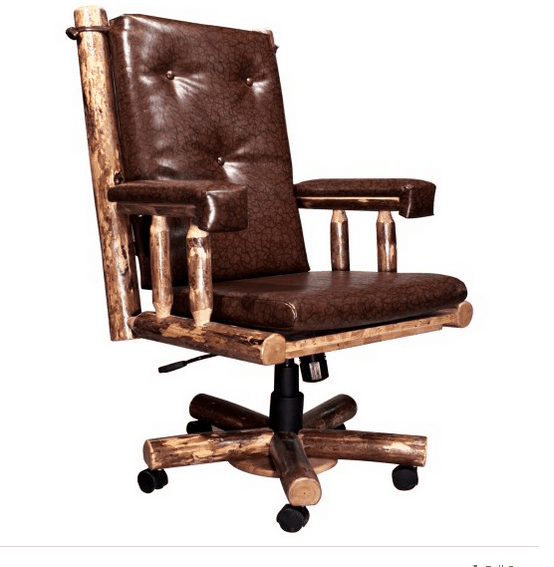 Country upholstered office chair.