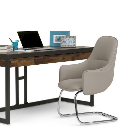 Faux leather spring office chair.