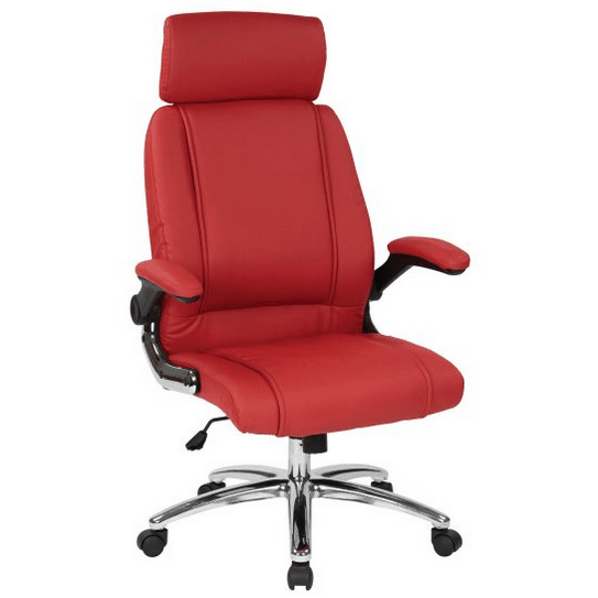 Vinyl faux leather office chair.