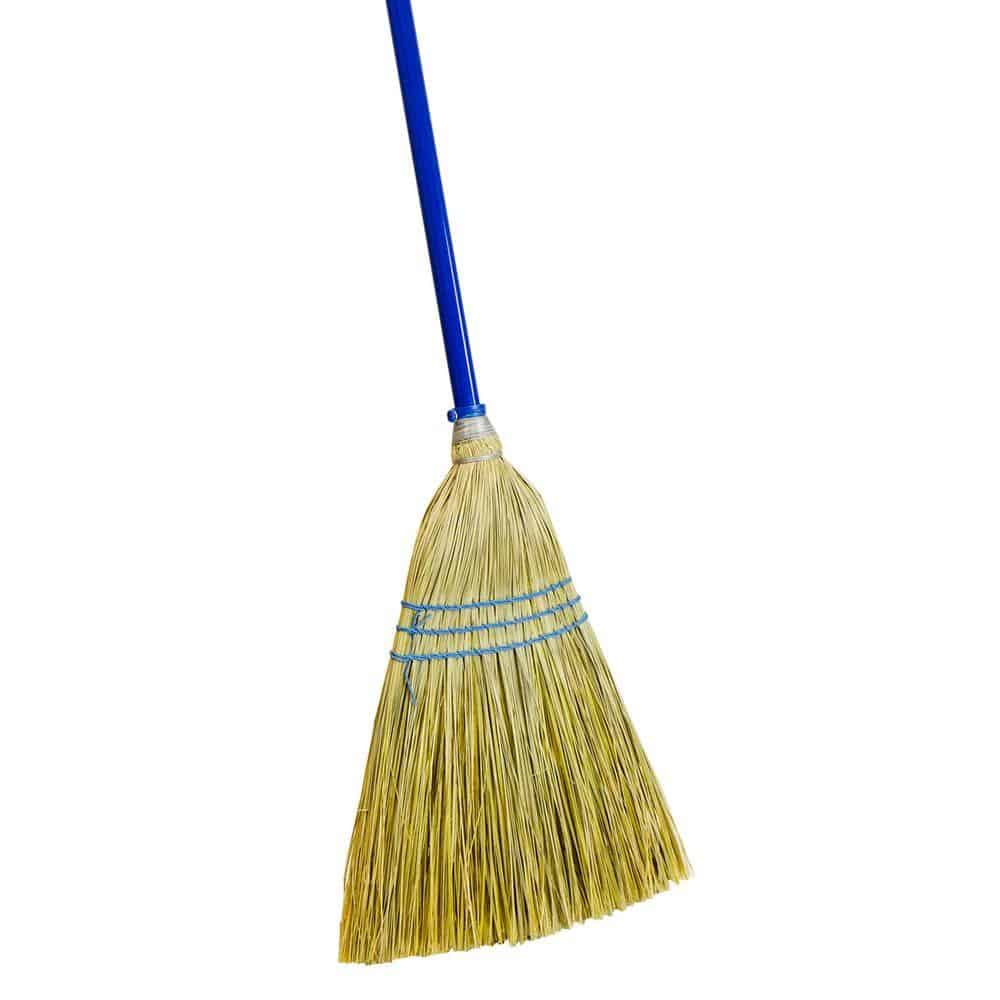 Broom with corn bristles