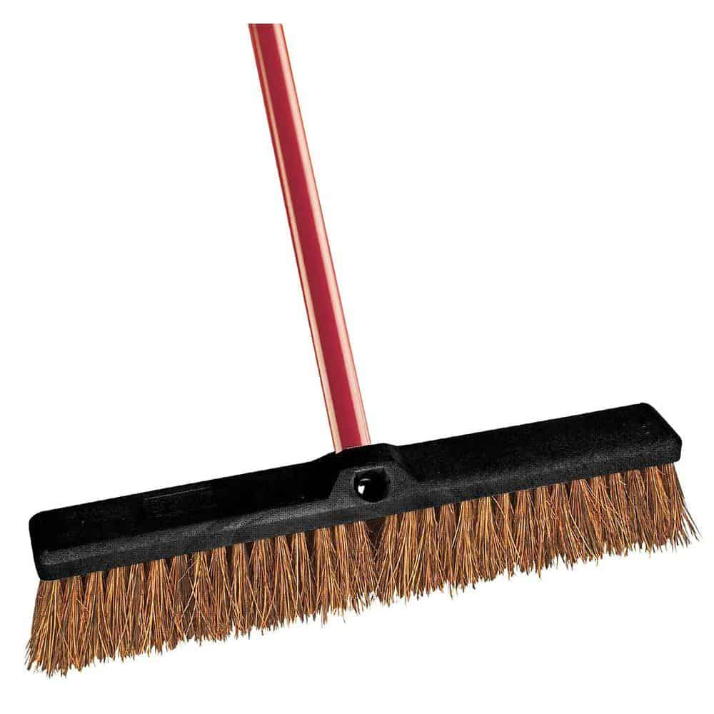 Broom with palmyra bristles