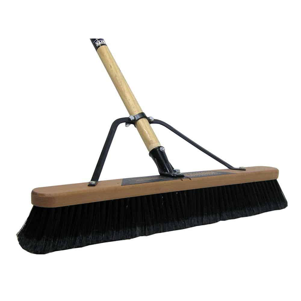 Broom with polypropylene bristles