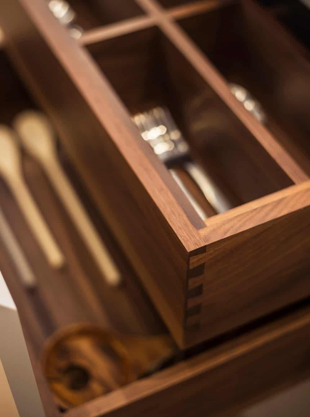 Container of kitchen utensils made out of hardwood. Photo credit: Photography / Styling : Rick Mccullagh / LLI Design