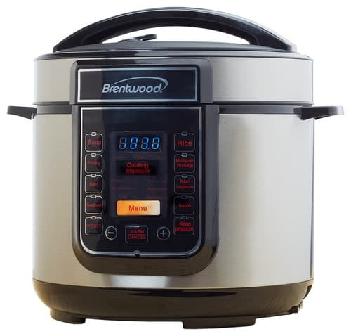 L5-quart locking pressure multicooker.