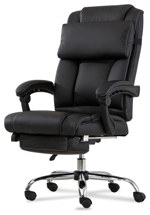 Executive Reclining High-Back Leather Office Chair