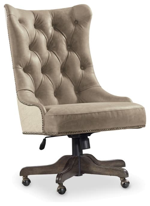 Leather traditional office chair.