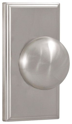 Nickel door knob.