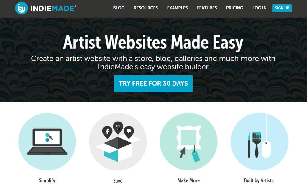 IndieMade's home page.