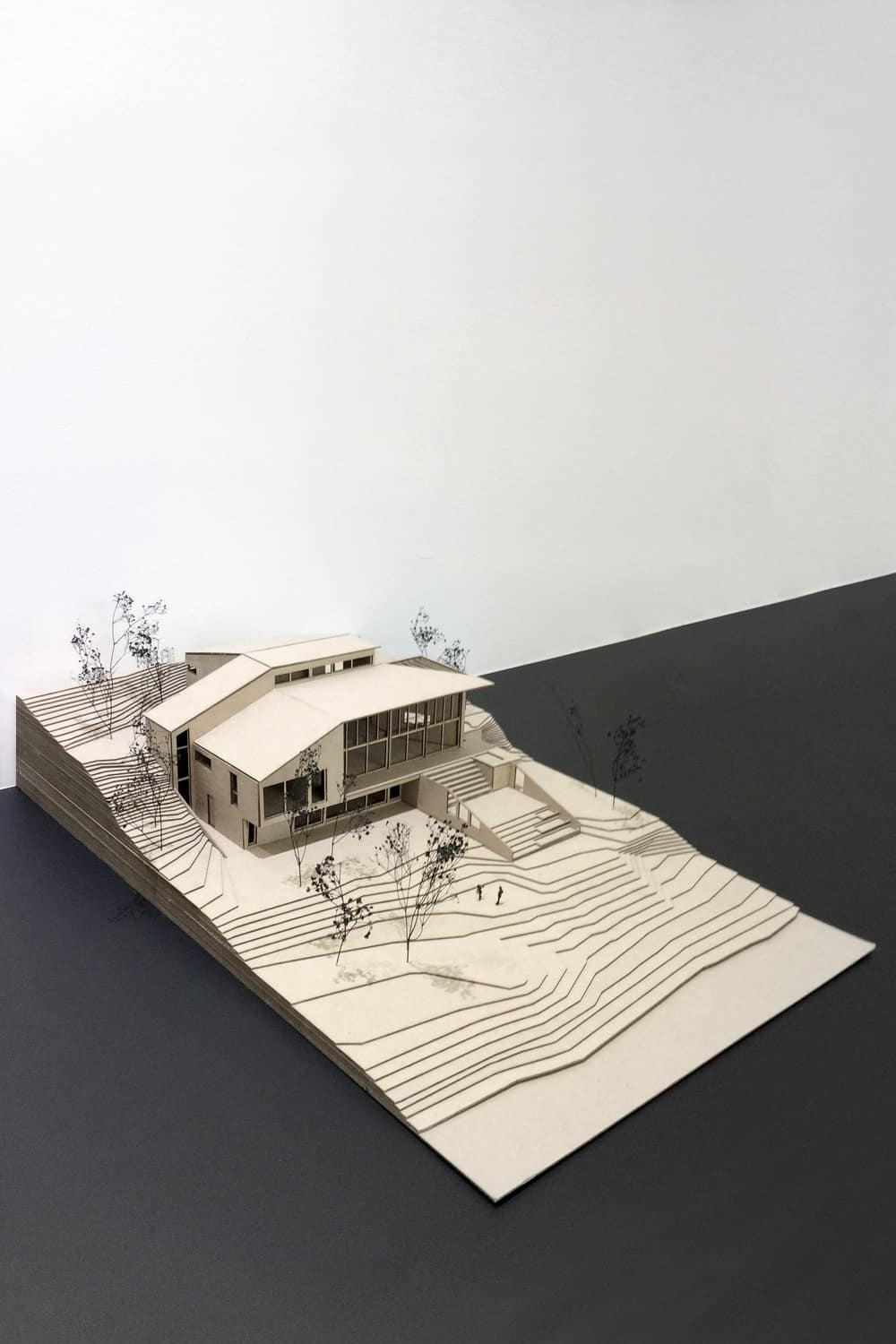 Complete diorama of the house. Photo credit: Bourgeois Lechasseur architects