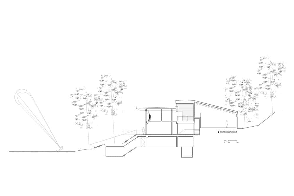 Outdoor plan of the house. Photo credit: Bourgeois Lechasseur architects