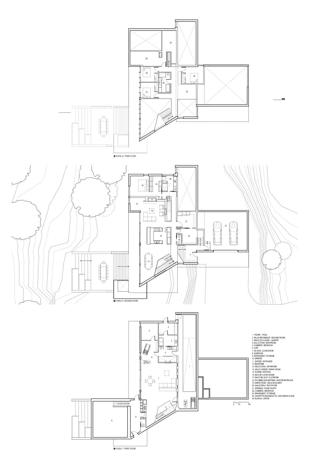 Full plan of the house. Photo credit: Bourgeois Lechasseur architects