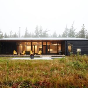 Another outdoor view of Lockeport beach house featuring the beautiful house and landscaping. Photo credit: Janet Kimber
