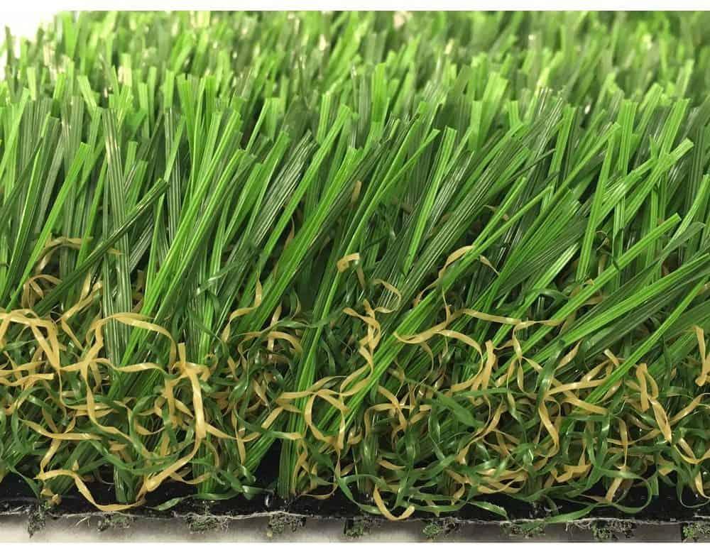 Long and greaan, non-flammable artificial grass carpet.