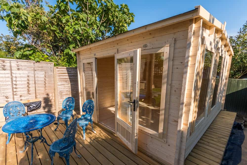 Shed with wooden flooring