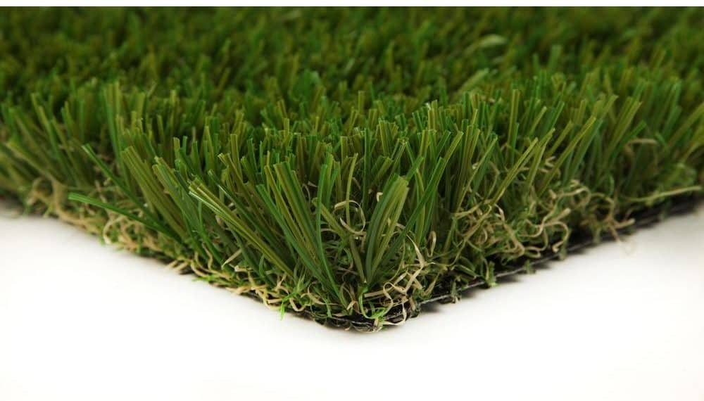 Synthetic grass carpet in a natural green shade.