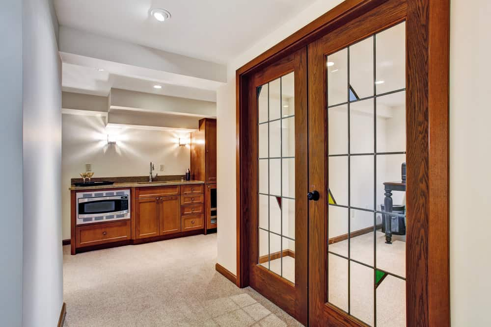 French doors for access to home office