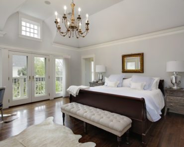 Nicely decorated and furnished guest bedroom