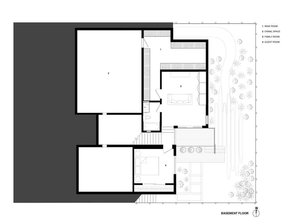 Noe Residence home blueprint. Photo credit: Studio Vara