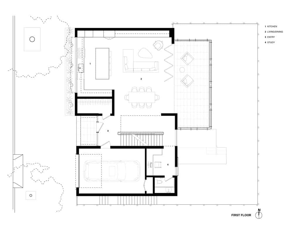 The home's complete blueprint. Photo credit: Studio Vara
