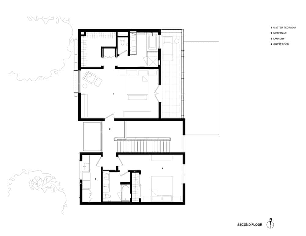 The house's blueprint. Photo credit: Studio Vara